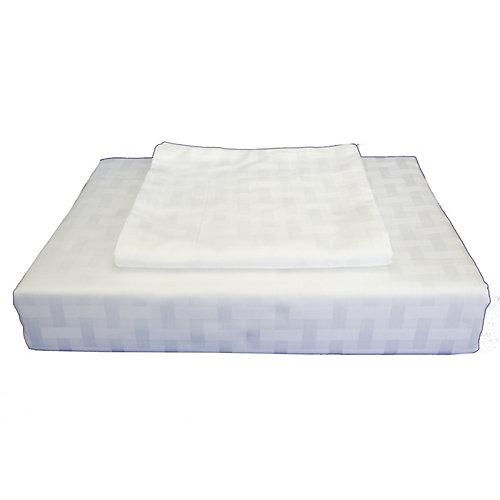 400TC Bamboo Duvet Cover Set, White, Queen