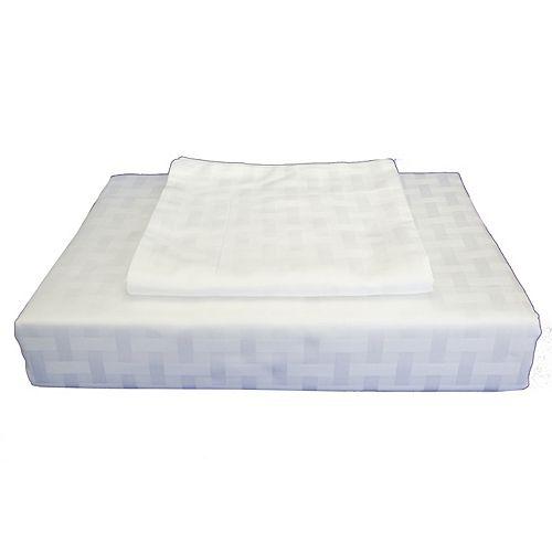 Bamboo Cotton -Ensemble de housse de couette, blanc, grand lit