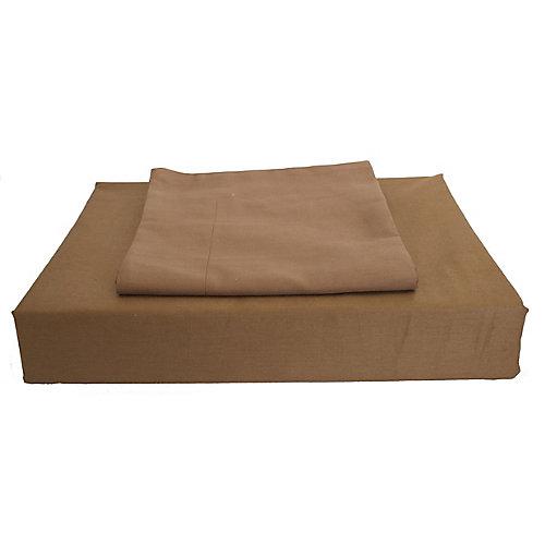 230 fils au pouce, Maxwell - Ensemble de housse de couette, Chocolat, grand lit