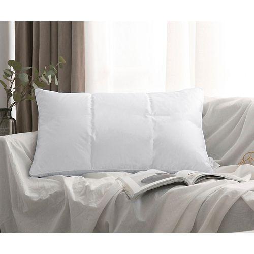 oreiller de duvet doie blanche avec finition passepoilée à coutures 2 aiguilles, format grand23