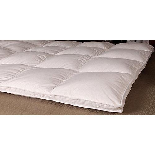 lit de plumes doie blanche à plateau-coussin de duvet, lit 2 places