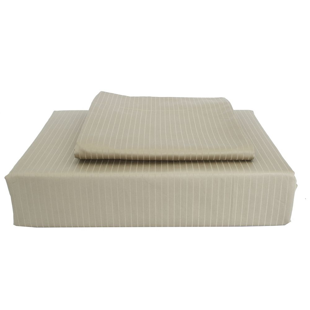 Maholi 600TC Tuxedo Stripe Duvet Cover Set, Sage, King