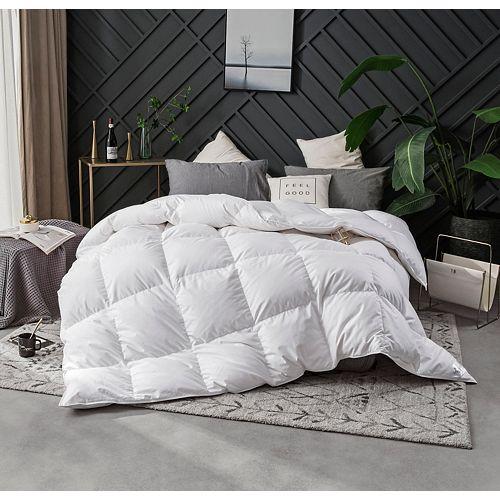 400FP couette de duvet doie blanche délevage huttérien, d'hiver, grand lit