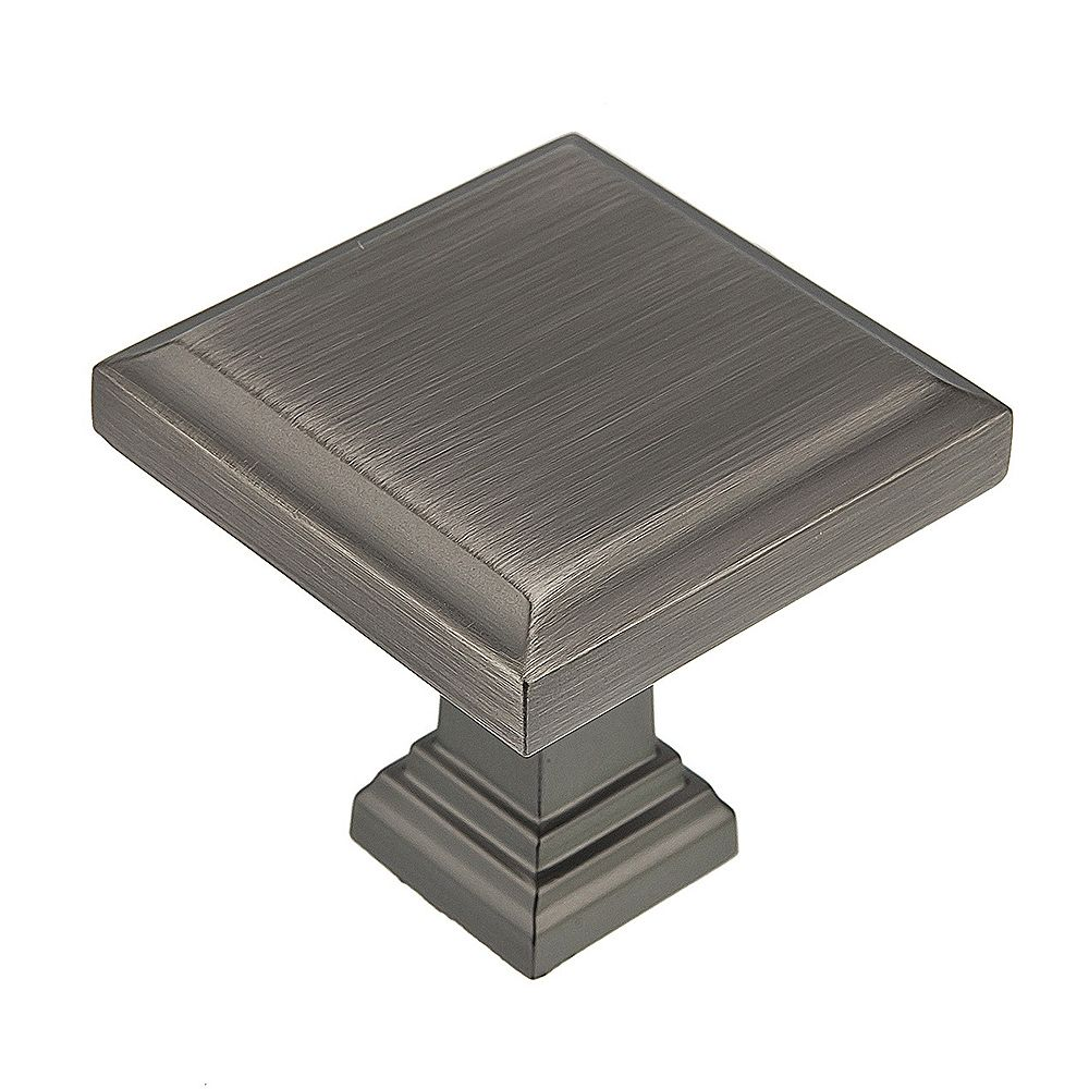 Richelieu Mirabel Collection 1 1/4 in (32 mm) x 1 1/4 in (32 mm) Antique Nickel Transitional Cabinet Knob