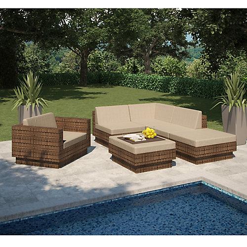 Park Terrace 6-Piece Patio Sectional Set