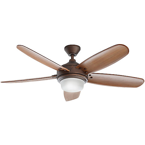 Breezemore 56-inch LED Brushed Nickel Ceiling Fan with Light Kit and Remote Control