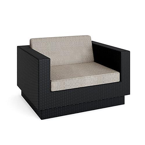 Park Terrace Textured Black Patio Chair