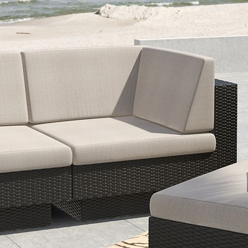 Park Terrace Corner Patio Sectional Seat in Textured Black