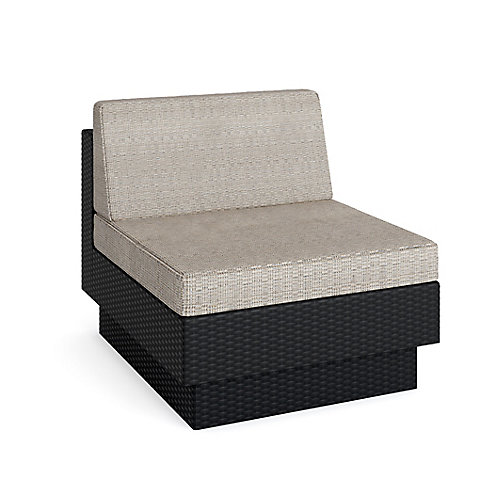Park Terrace Armless Middle Patio Sectional Seat in Textured Black