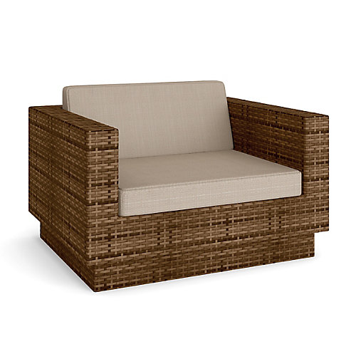 Park Terrace Patio Chair In Saddle Strap Weave
