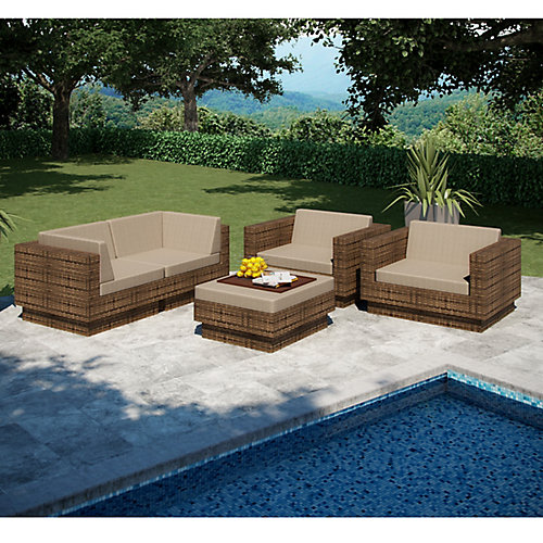 Park Terrace 5-Piece Patio Sofa Set