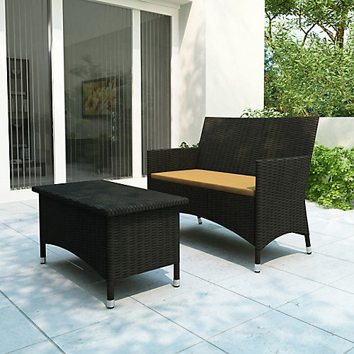 S-104-DCP Cascade - Ensemble de patio Sofa et table basse