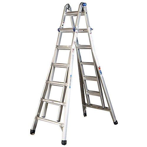 Aluminum Telescoping Multi-Purpose Ladder Grade 1A (300 lb. Load Capacity)- 26 Feet