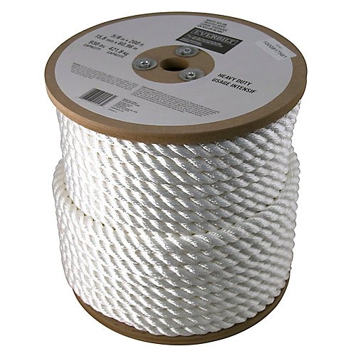 5/8-inch x 200 Feet NYLON TWISTED WHITE (sold per foot)