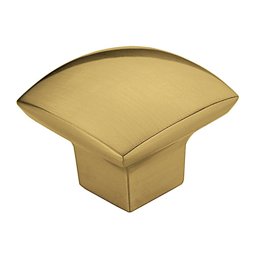 Contemporary Metal Knob  Satin Brass - Weston Collection