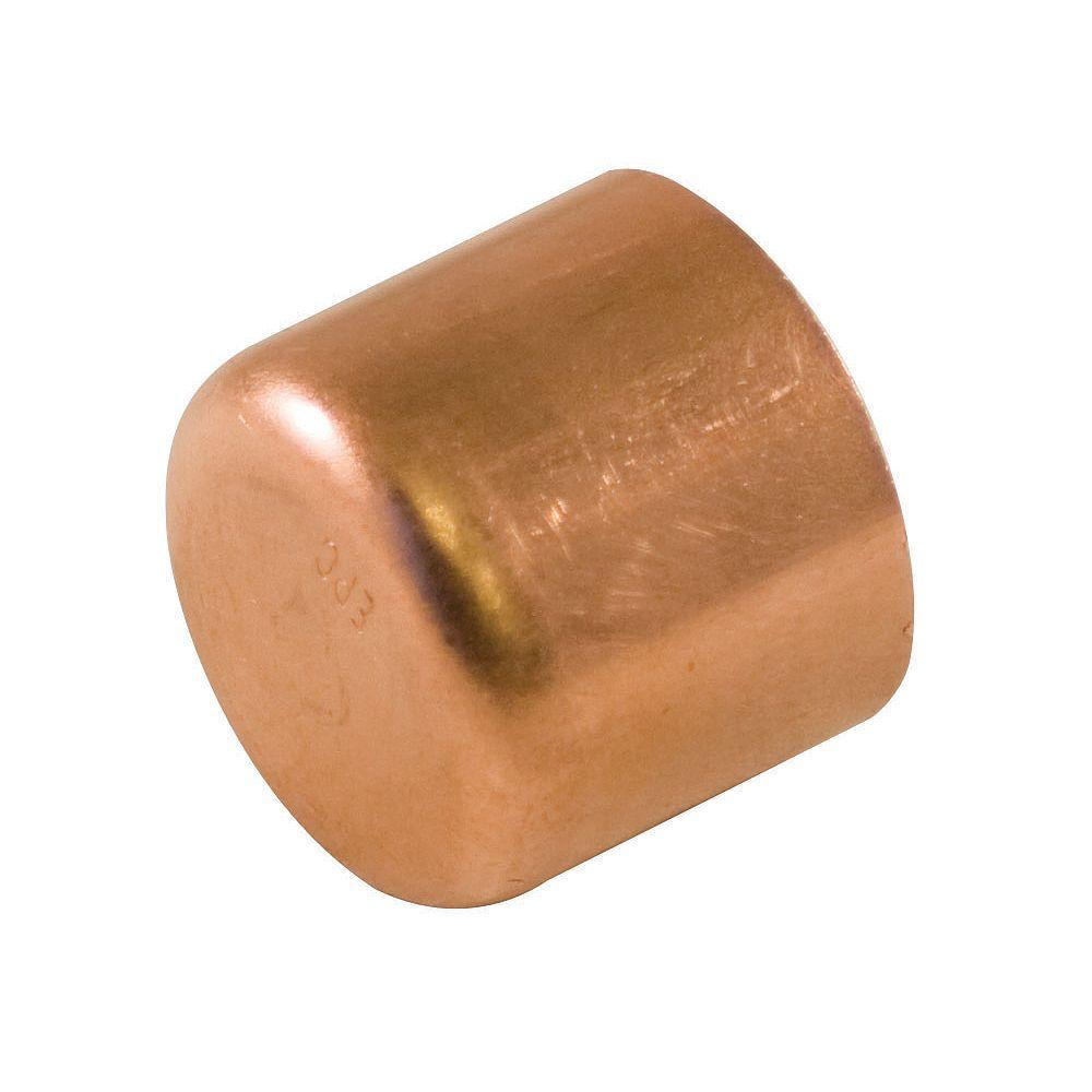 Aqua-Dynamic Fitting Copper Tube Cap 1/2 Inch (25-Pack)