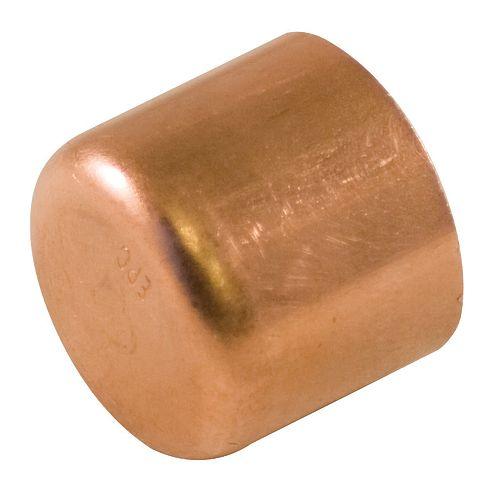 Fitting Copper Tube Cap 1/2 Inch (25-Pack)