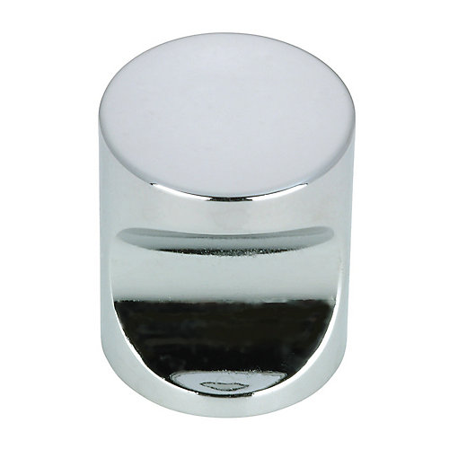 Contemporary Metal Knob 25/32 in (20 mm) Dia - Chrome - Tremont Collection