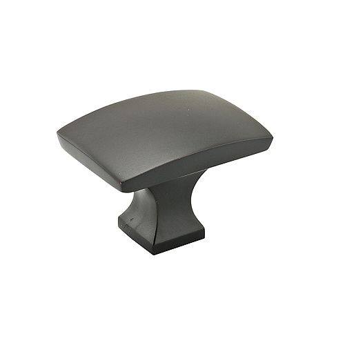 Rosemère Collection 1 23/32 in (44 mm) x 1 3/16 in (30 mm) Matte Black Transitional Cabinet Knob