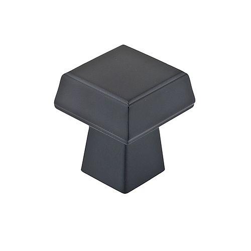Richelieu Contemporary Metal Knob  Matte Black - Donnacona Collection