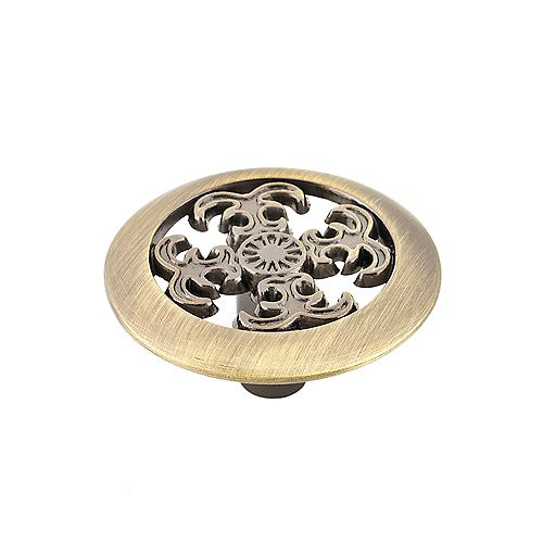 Marseille Collection 1 1/2 in (38 mm) Antique English Traditional Cabinet Knob