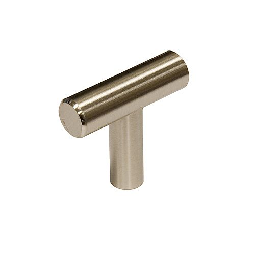 Washington  1 9/16-inch (40 mm) x 15/32-inch (12 mm) Brushed Nickel Contemporary Cabinet Knob