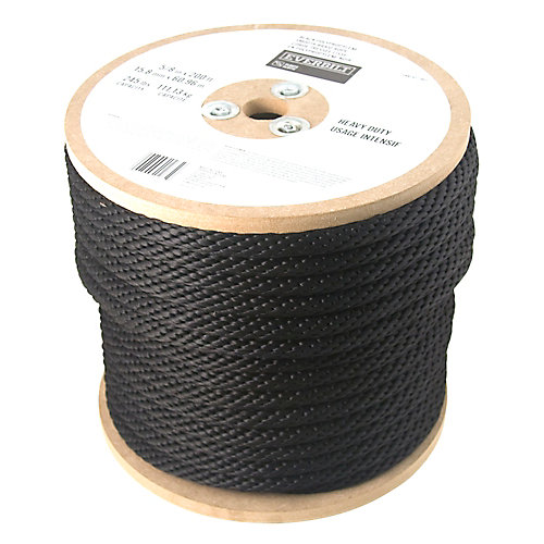 5/8 Inch x  200 Feet  POLYPROPYLENE SMOOTH BLACK (sold per foot)