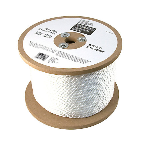 3/8-inch x 300 Feet NYLON SMOOTH WHITE (Sold Per Foot)