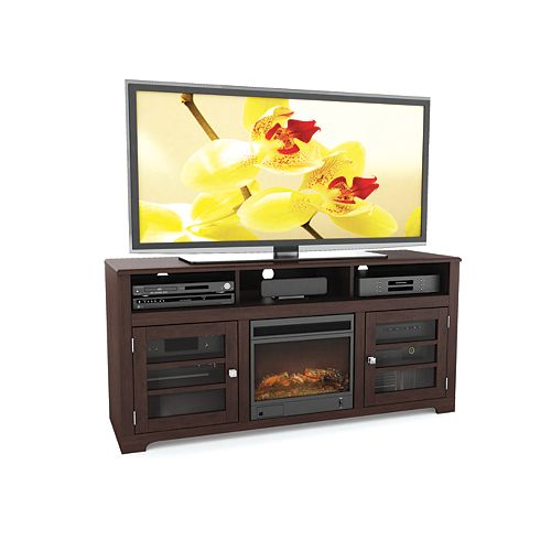 West Lake 60-inch Fireplace TV Bench in Dark Espresso
