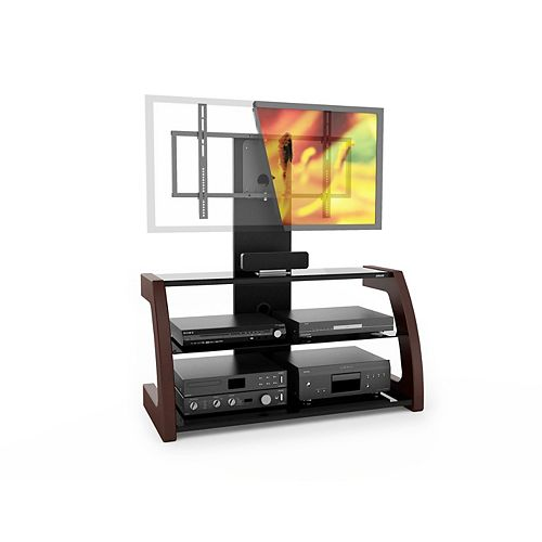 ML-1459 Milan Hybrid TV Stand with Solid Wood Uprights