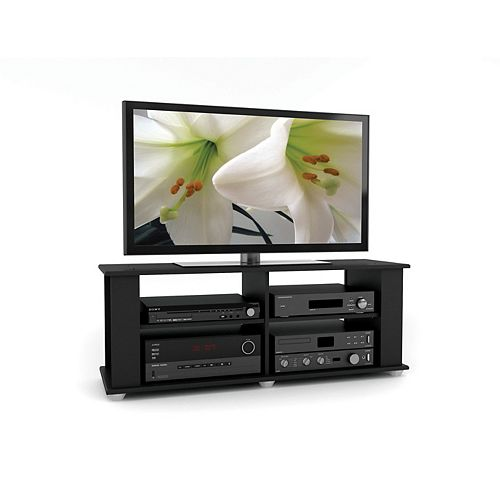Fillmore 48-inch x 18-inch x 15-inch TV Stand in Black
