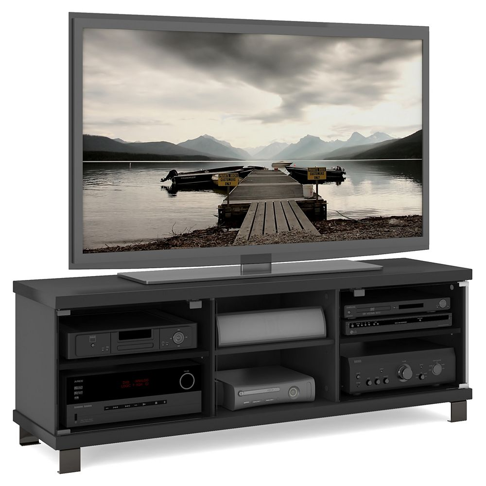 """Sonax Corliving HC-5590 TV Bench in Ravenwood Black, for TVs up to 68"""""""