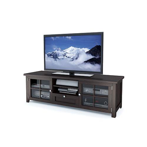 B-098-BAT Arbutus 63 inch Dark Espresso Stained Wood Veneer TV Bench