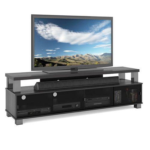 B-003-RBT Bromley 75-inch 2-Tier TV Bench in Ravenwood Black