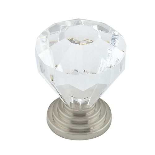 Eclectic Acrylic and Metal Knob 1 1/4 in (32 mm) Dia - Montreuil Collection