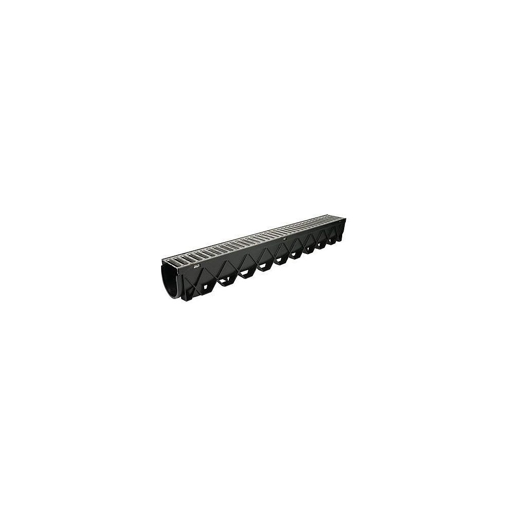 RELN 40 in. Storm Drain Deep Channel Drain Series with Stainless Steel Grate