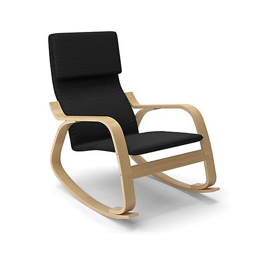 LAQ-605-C Chaise berçante Aquios Bentwood en Noir Minuit