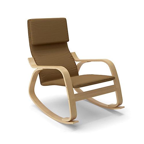 LAQ-625-C Chaise berçante Aquios Bentwood en Brun Chaud
