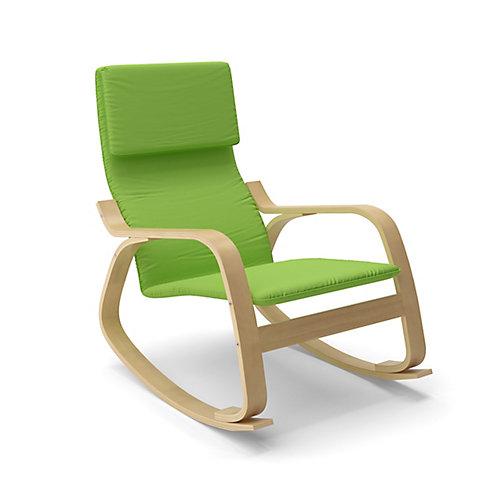 LAQ-635-C Chaise berçante Aquios Bentwood en vert pomme