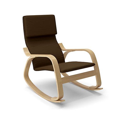LAQ-695-C Chaise berçante Aquios Bentwood en Café Foncé