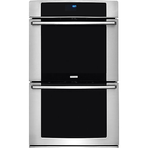 30-inch Double Electric Wall Oven Self-Cleaning with Convection in Stainless Steel