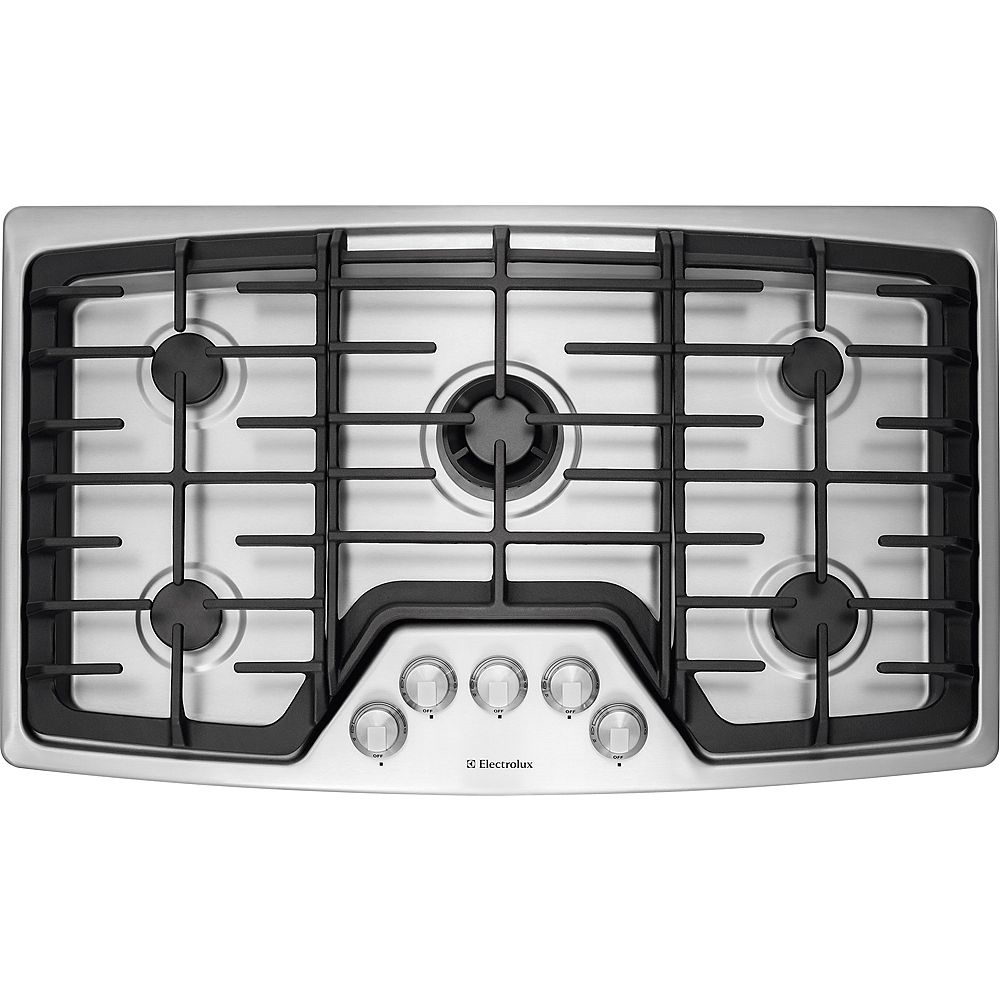 Electrolux 36-inch Gas Cooktop with 5 Burners in Stainless Steel