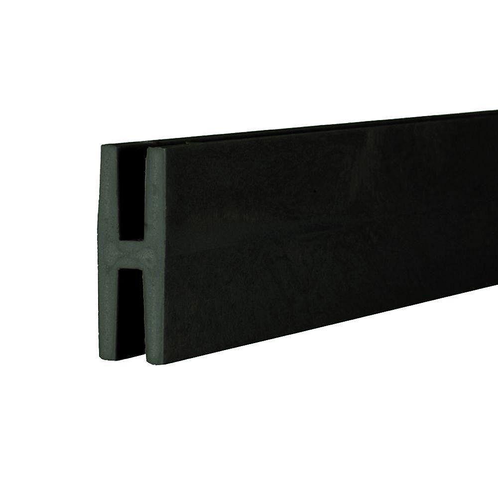 Veranda 8 ft. Black Plastic Lattice Divider   The Home ...