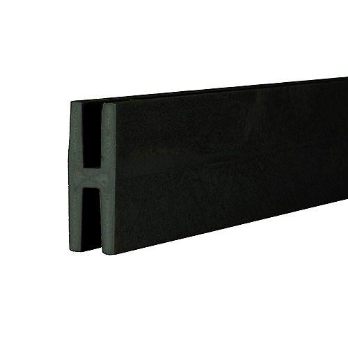 8 ft. Black Plastic Lattice Divider