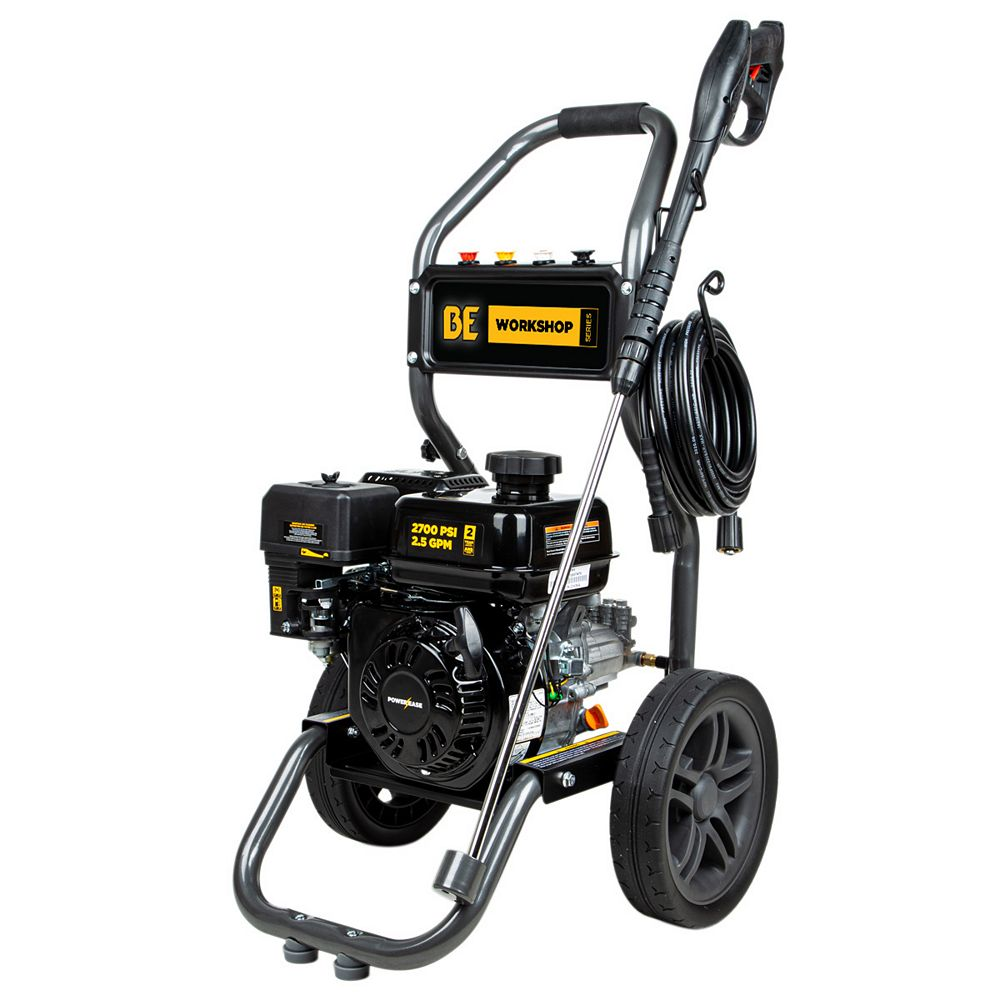 BE Power Equipment 2700 PSI 2.3 GPM Gas Pressure Washer