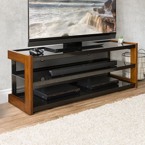 Sonax TML-150-B Quick Click TV Bench in Espresso, for TVs up to 68 inch