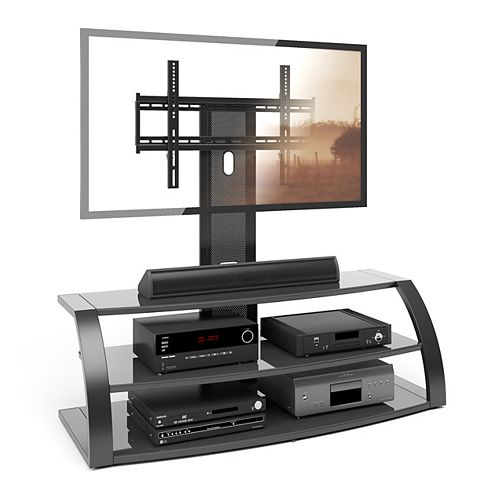 Malibu 55-inch x 48-inch x 24-inch TV Stand in Black