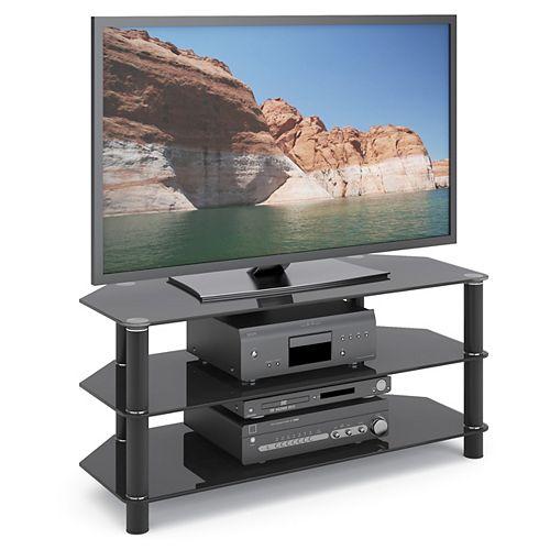 Trinidad 41.5-inch x 19-inch x 17.75-inch TV Stand in Black