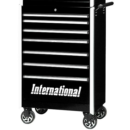 Professional Series 27-inch 7-Drawer Tool Storage Cabinet in Black