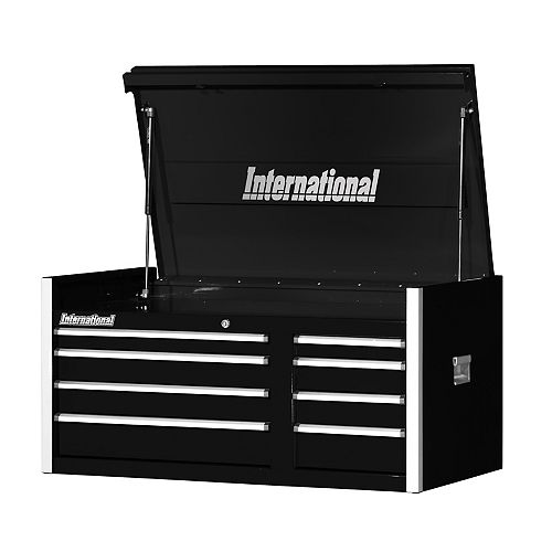 Professional Series 42-inch 8-Drawer Extra Deep Top Tool Storage Chest in Black